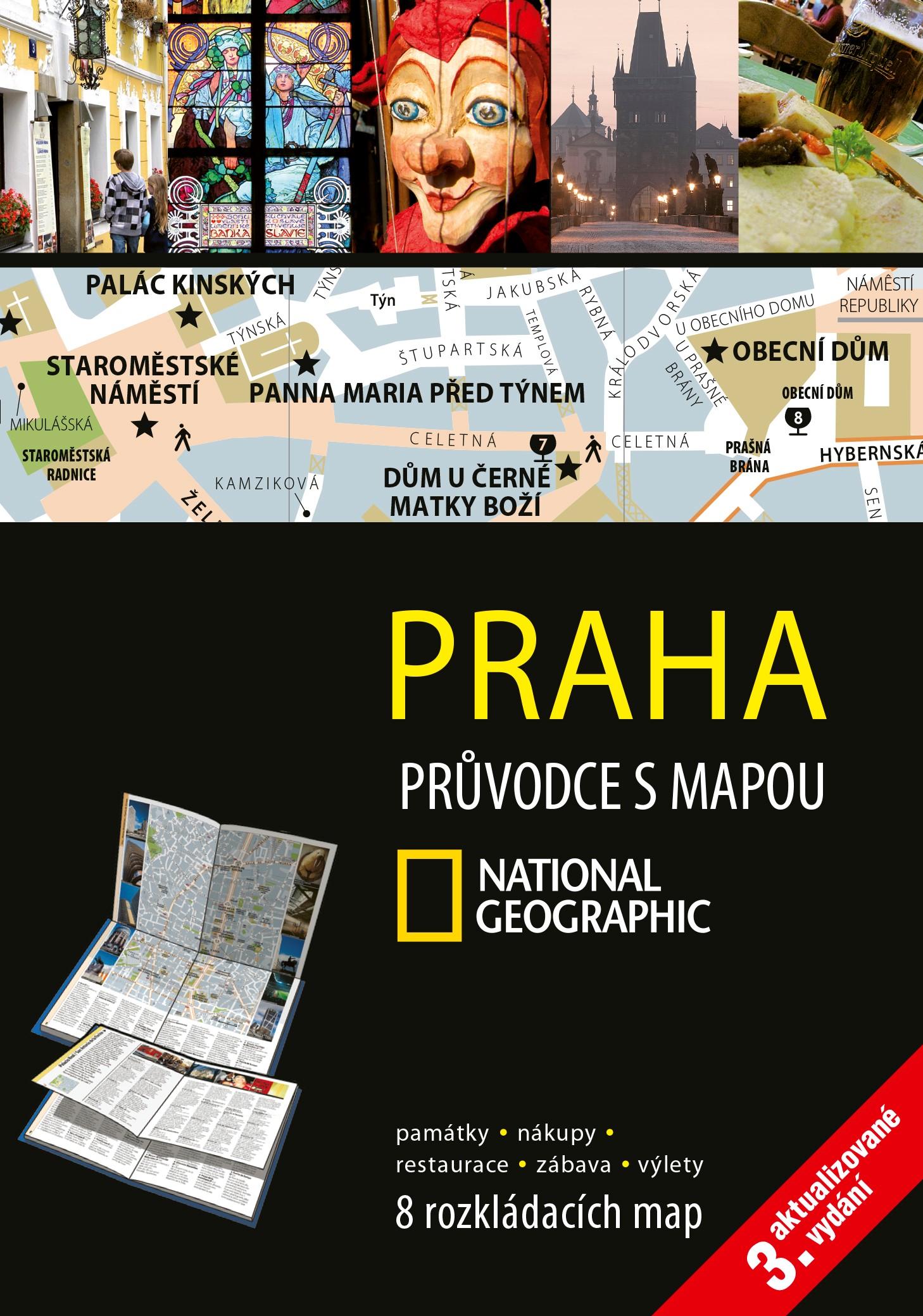National Geographic průvodce s mapou Praha 3