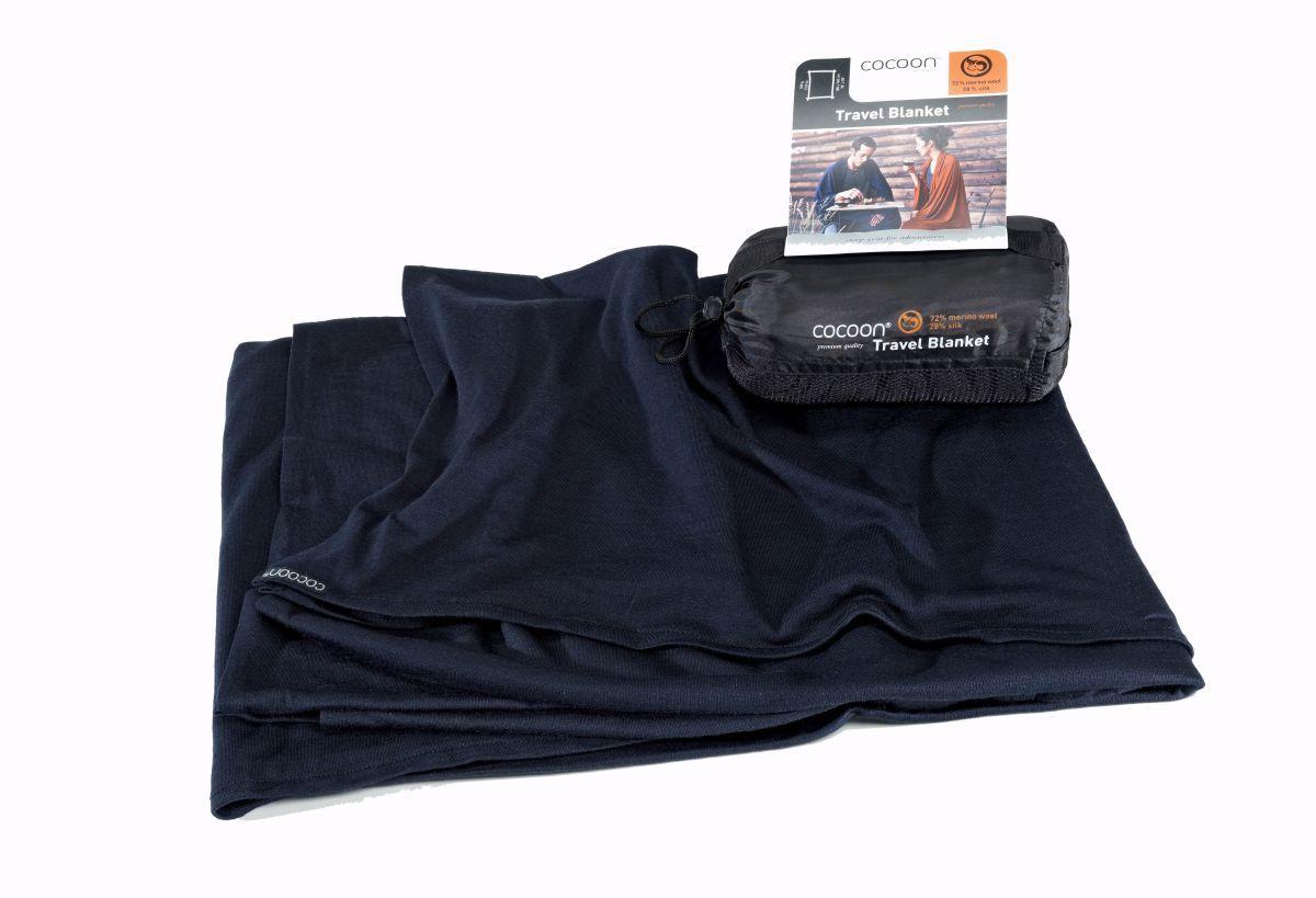 Cocoon merino deka Merino Wool/Silk Blanket graphite blue