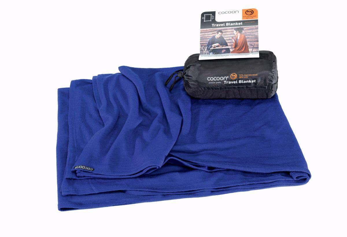 Cocoon merino deka Merino Wool/Silk Blanket sapphire