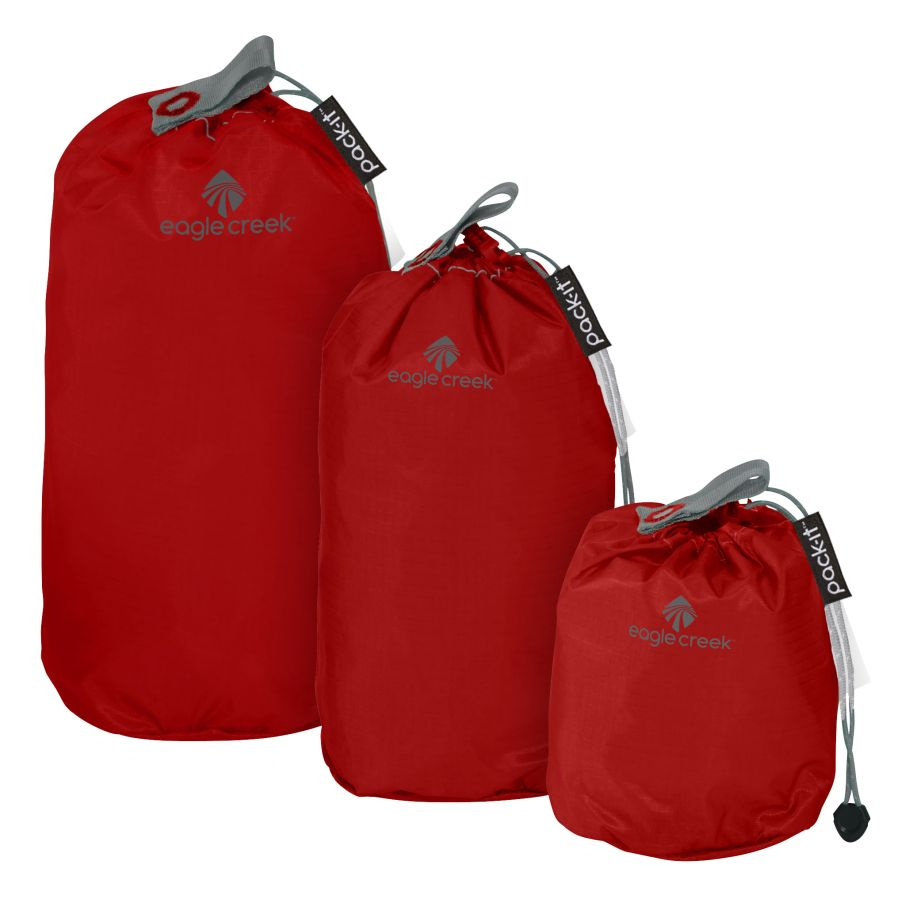 Eagle Creek sada vaků Pack-It Specter Stuffer Set Mini volcano red