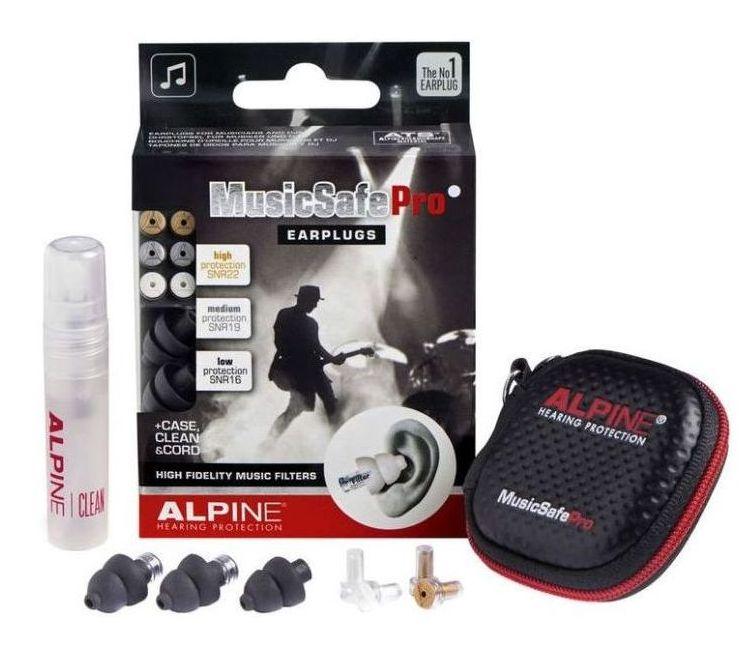 Earplugs ušní ucpávky Alpine MusicSafe Pro black