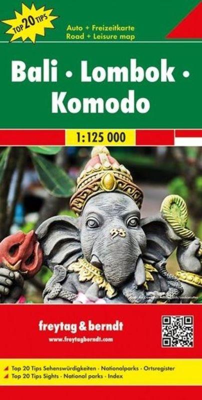 Freytag & Berndt automapa Bali, Lombok, Komodo 1:125000