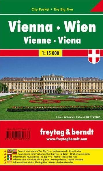 Freytag & Berndt kapesní plán města Vídeň 1:15000