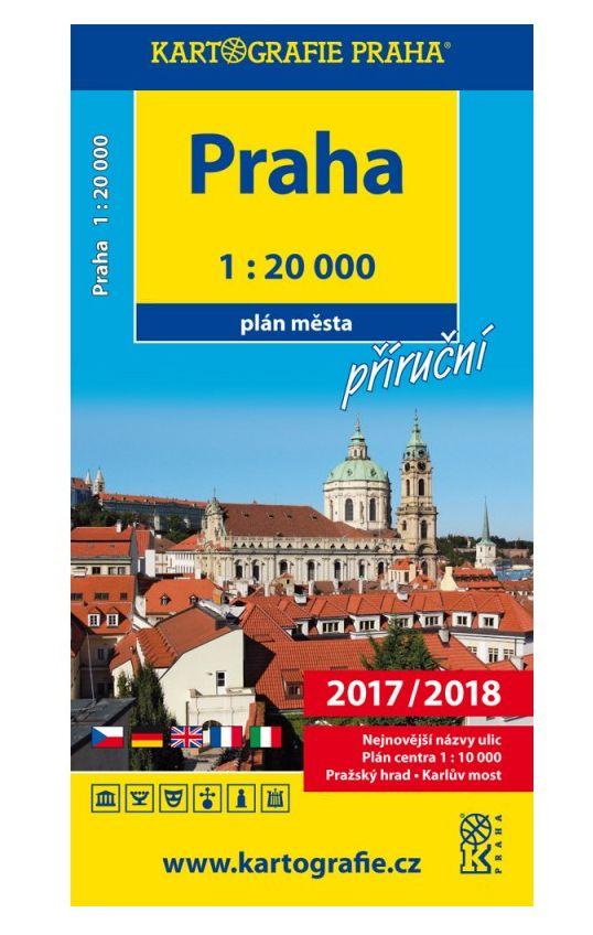 Praha 1:20000 plán města příruční