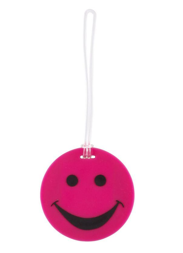 Lewis N. Clark visačka Smiley Face Luggage Tag pink