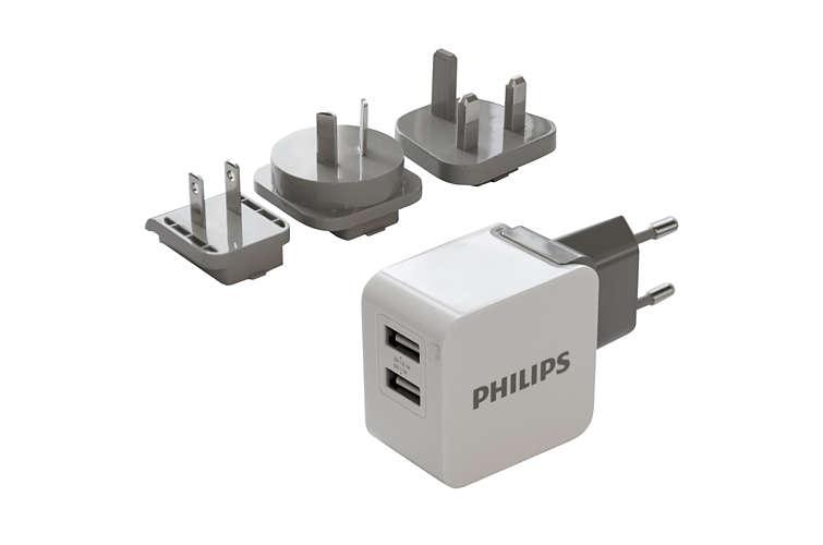 Philips duální USB nabíječka 3.1A Ultra Fast Travel Charger