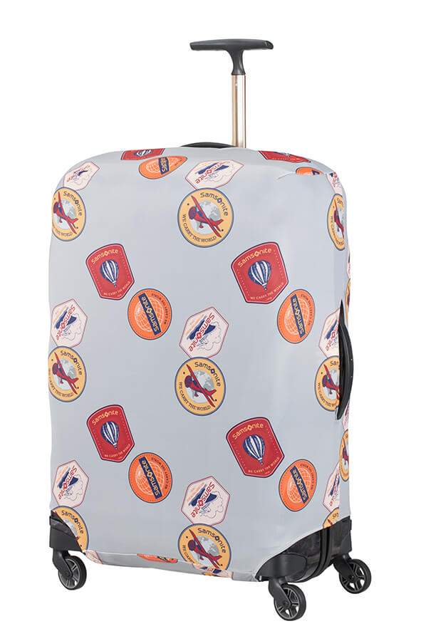 Samsonite obal na kufr Lycra Luggage Cover L heritage patches
