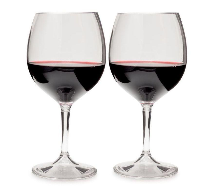 GSI outdoors sada skládacích vinných sklenic Red Nesting Wine Glass