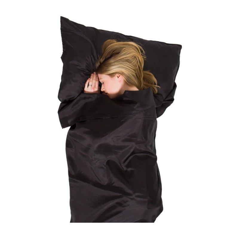 Lifeventure vložka do spacáku Ultimate Silk Rectangular black