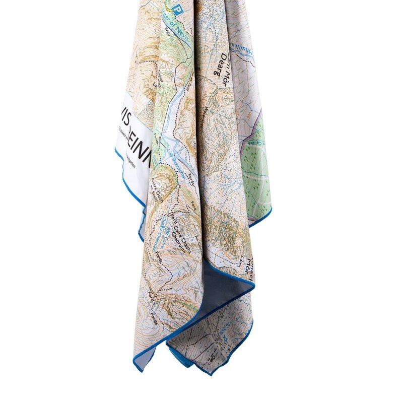 Lifeventure ručník SoftFibre Trek Towel Ben Nevis Map